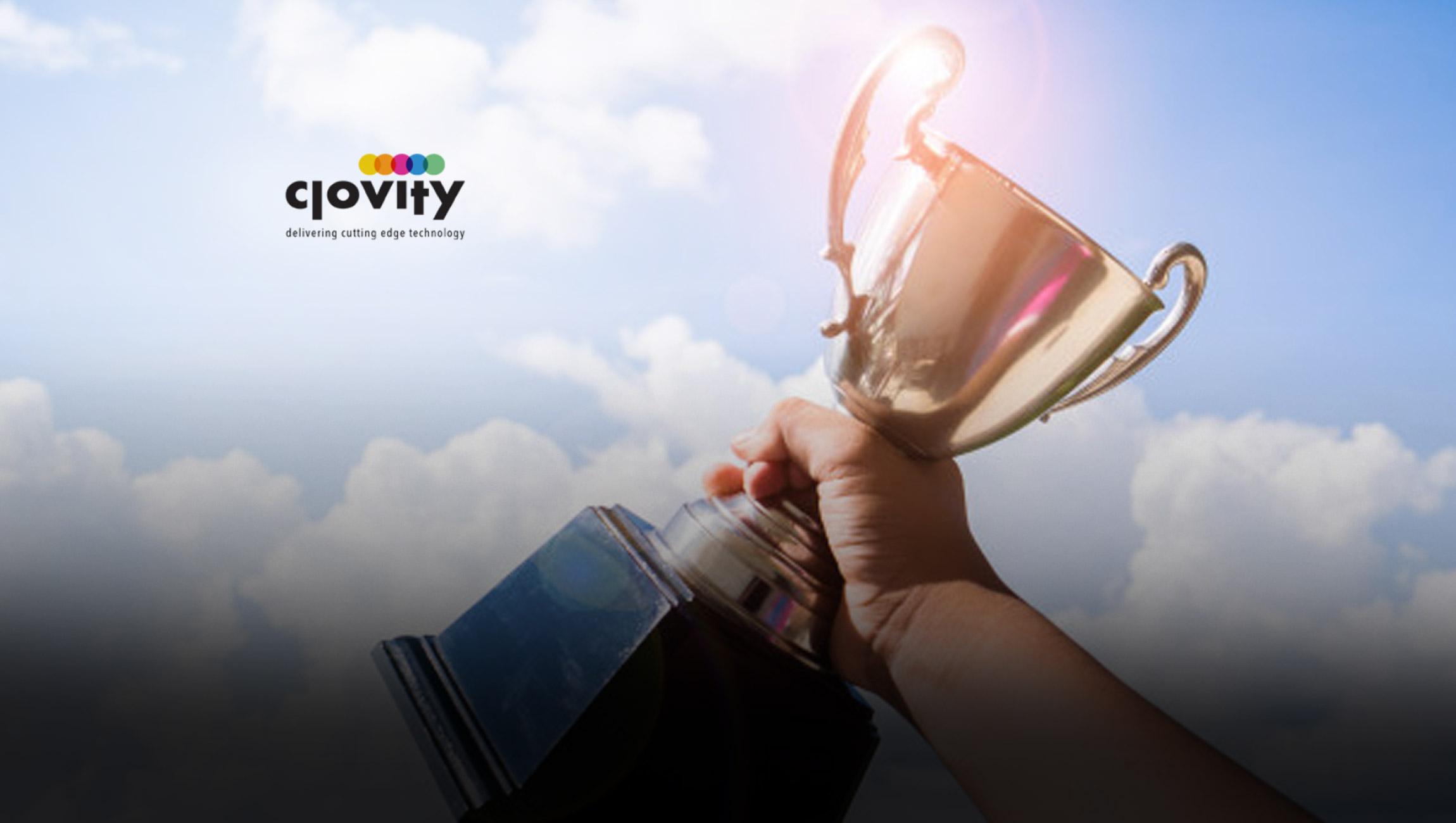 """Clovity Named """"Global IoT Innovation Vendor of the Year"""" in 2021 IoT Breakthrough Awards Program"""
