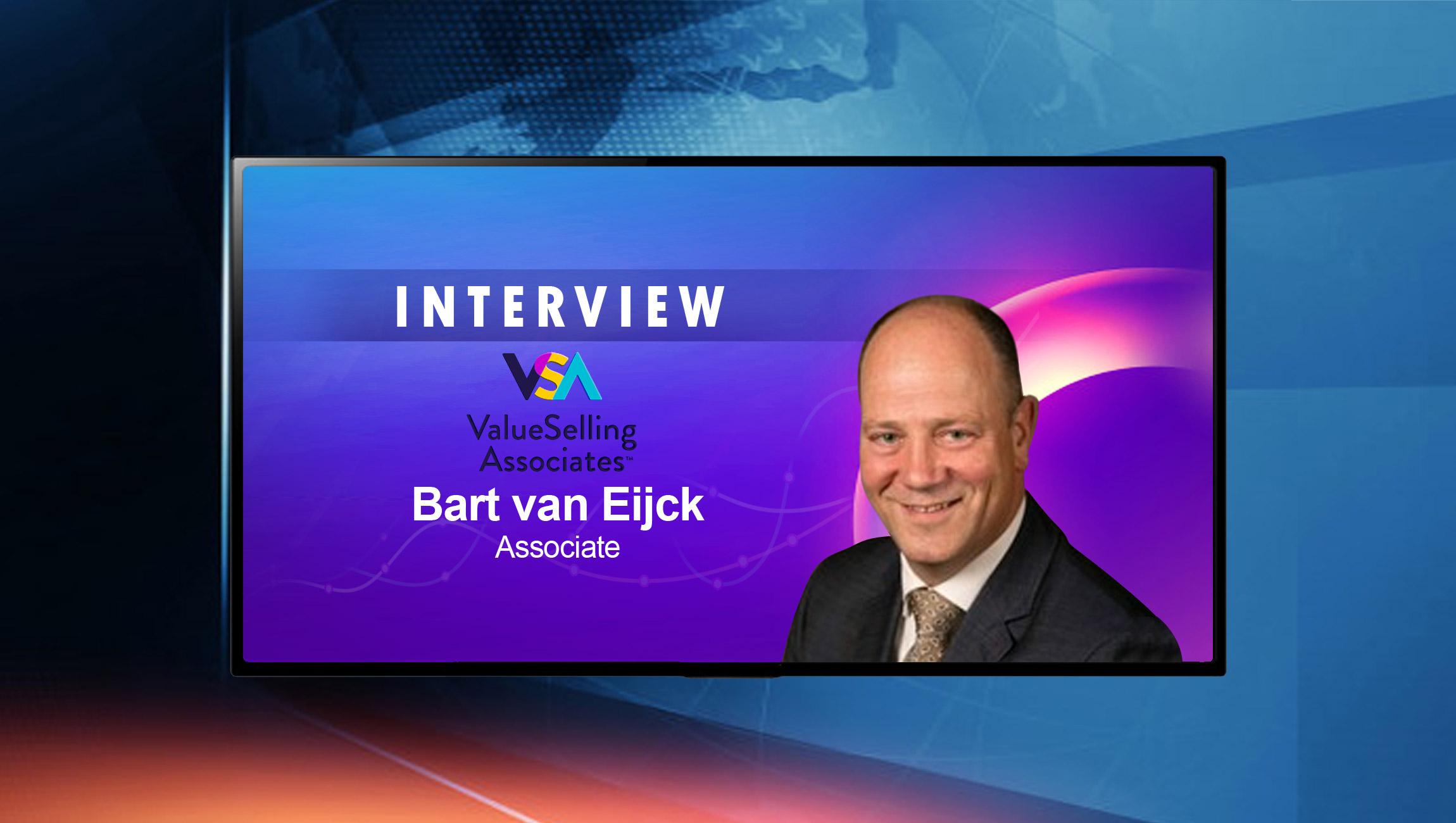 SalesTechStar Interview with Bart van Eijck, Associate at Value Selling